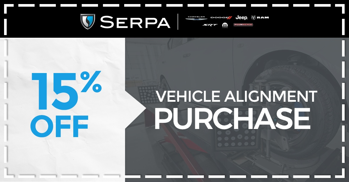15% Off Vehicle Alignment Purchase