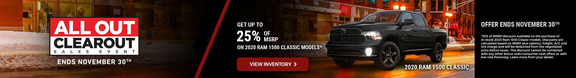 November 2020 RAM 1500 Classic Offer