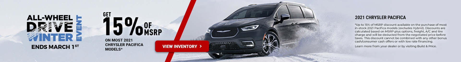 2021 Chrysler Pacifica Promotional Banner